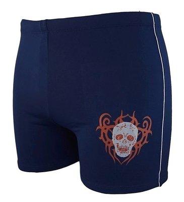 Zwemboxer Blue Skull